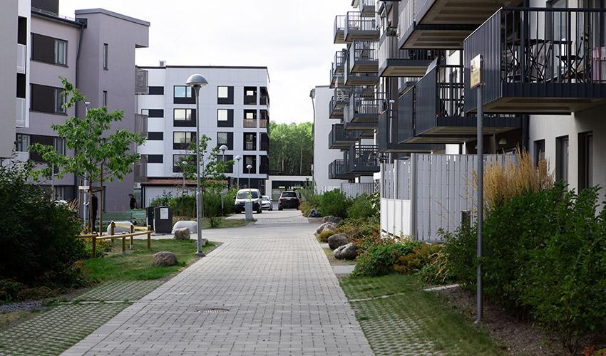 Kvarter i Östra Bäcklösa med bilpool