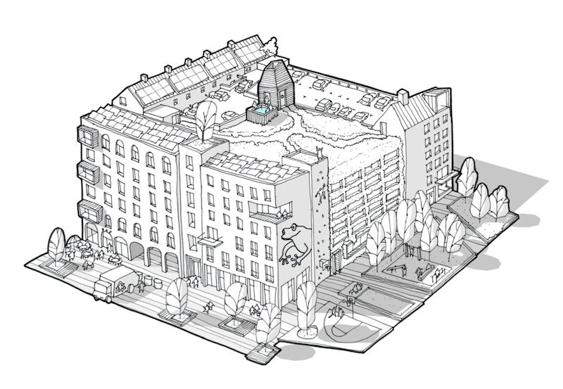 Visionsbild från FOJAB Arkitekter